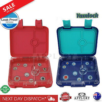 Bento Lunch Box 4 Or 6 Section Leakproof School Picnic Food Container Lunchbox