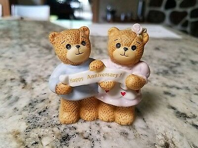 1986 Enesco Lucy & And Me Happy Anniversary Bears