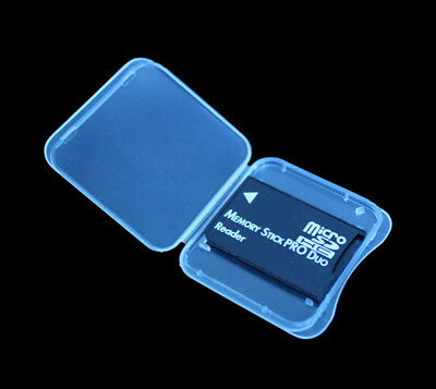 TF Micro SD SDHC to Memory Stick MS Pro Duo Adapter READER For PSP +Plastic Case