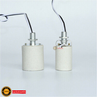 1PCS Ceramic Screw Base Round LED Light Bulb Lamp Socket E27 E14 Holder Adapter