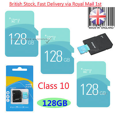 TF Card & free Adapter Class 10 For Smartphones Tablets Cameras etc 128GB