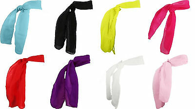 Girl Child Toddler Teen Adult SHEER Silk SCARF Lightweight Short Neck Purse Hair