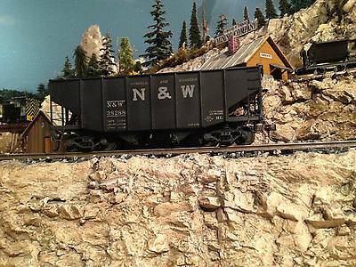 Brass N&W Two Bay Hopper Robert Parri Norfolk Western PSC  2-rail