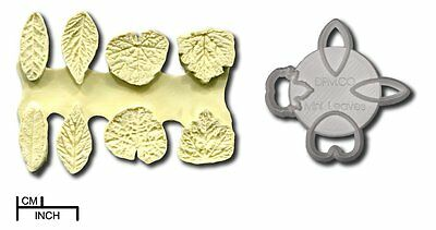 Different Miniature Leaf Leaves Cutters and Respective Double Veiners Set of 4