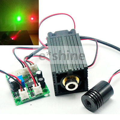 12V High Power 650nm 200mW Rot und 532nm 50mW Grün Laser Dot Modul