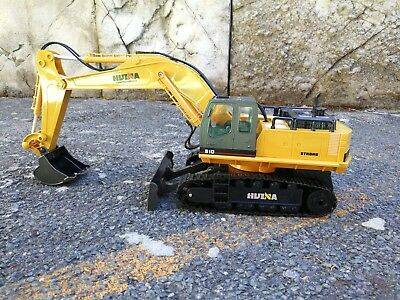 Au Store Remote Control HUINA 1:16 2.4G 11CH Die-Cast Tractor Excavator Digger