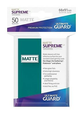 Ultimate Guard Supreme UX Sleeves Standard Size Matte Petrol Blue (50) Card
