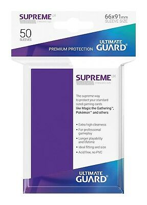 Ultimate Guard Supreme UX Sleeves Standard Size Purple (50) Card. Free Delivery