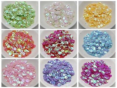 3000 8mm CUP round loose sequins Paillettes sewing Wedding