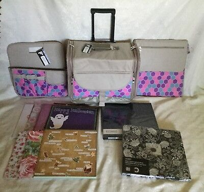 Francheville HoneyComb Scrapbooking trolley set Albums &12x12 assorted papers #2