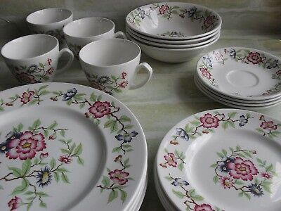 Vintage Ironstone Ware By MYOTT - Dinner Set - Plates / Bowls / Cups - England