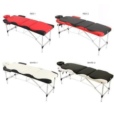 3 Fold Portable Massage Table 84''L Therapy Massage Bed Facial SPA Bed U5Y9
