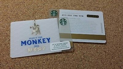 Starbucks Card Year of the Monkey 2016 New Pin Intact