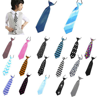 2017 School Boys Kids Children Baby Wedding Print Striped Colour Tie Necktie