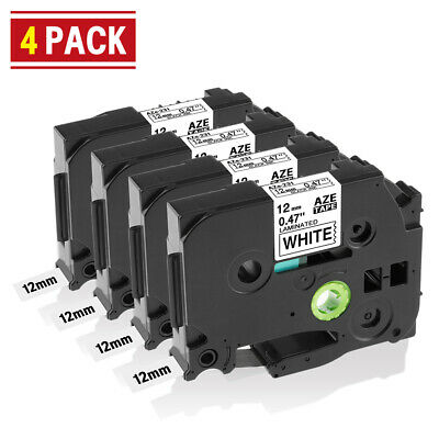 TZ-231 TZe-231 Compatible for Brother P-touch Label Tape 12 mm Cassette 8m 4pk