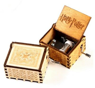 Harry Potter Music Box Engraved Wooden Music Box Toys Xmas Gifts US