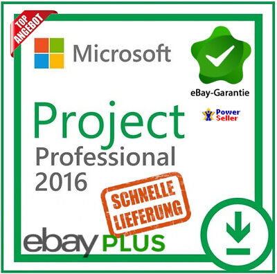 Microsoft Project 2016 Professional ✔ MS® PROJECT ✔ 30 Sec NACHRICHT LIEFERUNG ✔