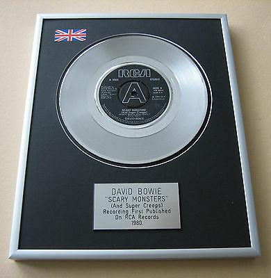 DAVID BOWIE Scary Monsters (And Super Creeps) PLATINUM SINGLE DISC PRESENTATION