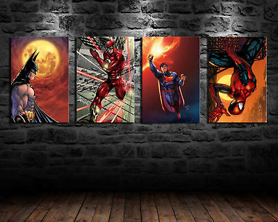 Oil Painting HD Print Wall Decor Art on Canvas Movie Super Heroes No Frame 4P