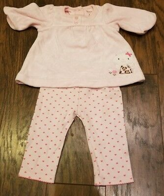 Baby Girl 3 Month Clothing Lot Long Sleeve Velour Shirt and Leggings