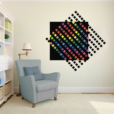 ced54 Full Color Wall decal Sticker abstraction circle bedroom living room