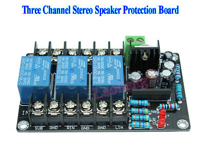Assembled UPC1237 2.1 Three Channel Stereo Speaker Protection Board AC 12-15V