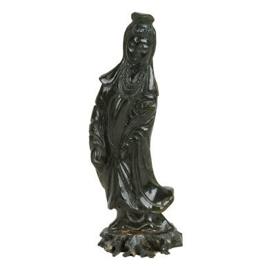 China 20. Jh. Statue A Chinese Jade figure of Guanyin - Cinese Statuette Chinois