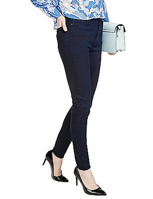 2f32a35694a721 New Womens Marks & Spencer Blue High Waisted Skinny Jeans Size 18 16 14 12  10
