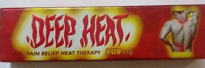 4x DEEP HEAT Rub Instant pain Aches relief heat therapy muscle stiffness 25g