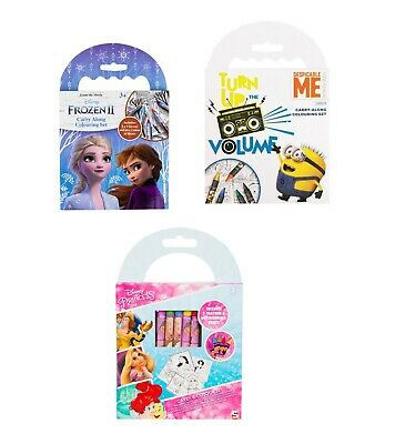 Licensed Girls Coloring Pack of Crayons of Different Characters for Art & Craft