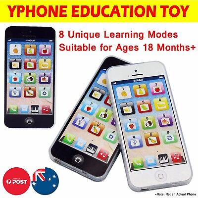 Yphone For Kids Toys ABC Mobile Phone Education Learning Machine Smart Touch LED