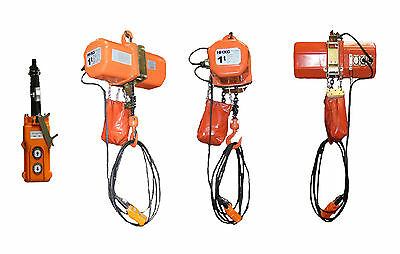 Electric Chain Hoist, 2000 lb., 230V electric crain hoist HD Super 2000 1 ton