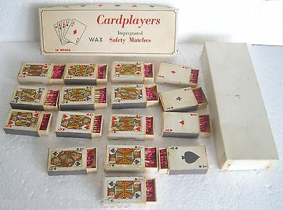 CARDPLAYERS - WINSTON 152.046 - 16 boxes Safety Matches Made in Italy