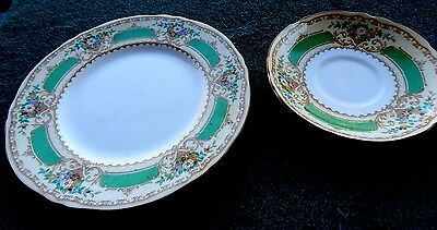 Vintage Crown Staffordshire Fine Bone China Salad Plate and Saucer Pattn. #15645