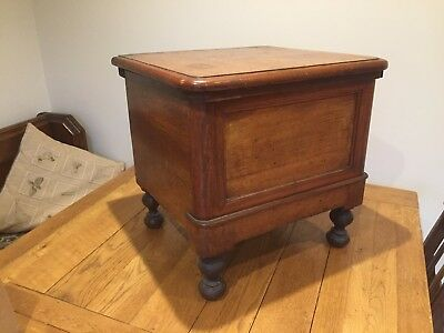 Antique Victorian Mahogany Footstool Side Table Commade