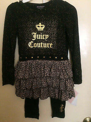 Juicy Couture $59.50 Black/gold Girls 2-Piece Set-5,6-Choice-Super Cute-Nwt!!