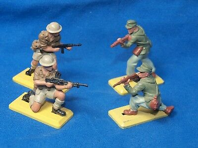 BRITAINS DEETAIL 1970s, WW2 GERMAN AFRIKA KORPS, AND BRITISH INFANTRY, 8TH ARMY