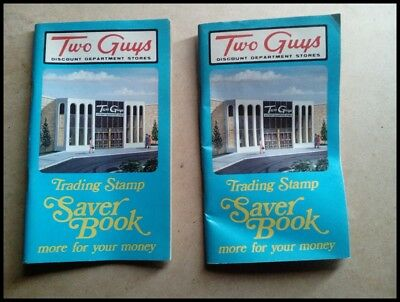 (2)Two Guys  Trading Stamp Books - VERY GOOD condition