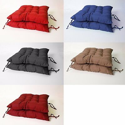 2 Pack Indoor/Outdoor Cushion Seat Chair Pad with Ties, Garden Dining Yard Patio