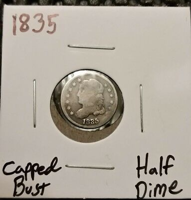 1835 Capped Bust Half Dime! 89% Silver!
