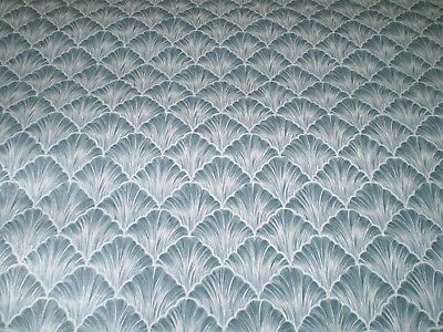 Art Deco Blue Scallop with White Feathery Lines by Porcelain Prints 19490