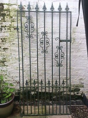Reclaimed vintage wrought iron single garden gate