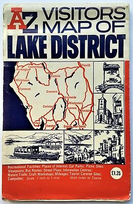 Vintage A to Z Lake District Visitors Map 1:63360 1 inch to 1 mile 5th Edition