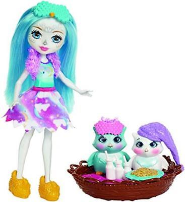 Enchantimals Sleepover Night Owl Dolls Set FCG78 Collectable Kids Toys Cute Gift