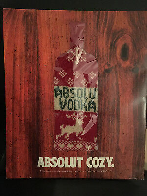 Absolut Cozy Cynthia Rowley Woven Sock VERY Limited UNOPENED NEW