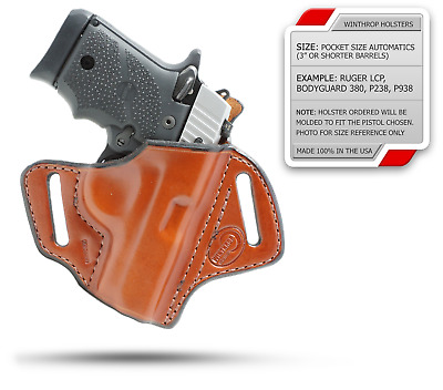 Kimber Micro 9 mm w/ Lasergrips OWB Shield Holster R/H Brown