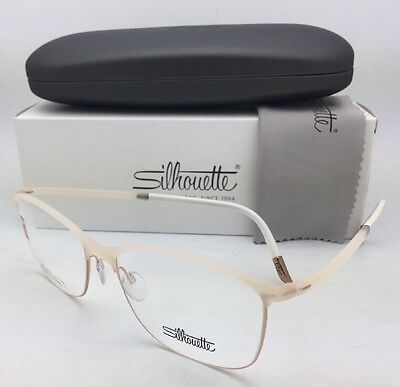 98ceb7b4610a New SILHOUETTE Eyeglasses SPX 1575 20 6056 53-16 135 Matte Ivory and Gold  Frames