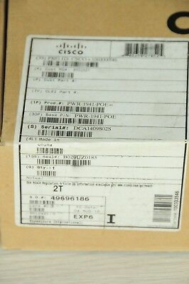 *Brand New* Cisco PWR-1941-POE AC PoE Power Supply for 1941 Router 1YrWty TaxInv