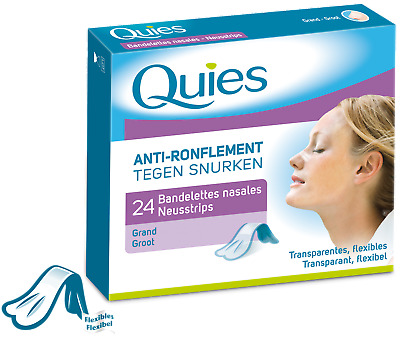 Quies Bandelettes Nasales Anti-Ronflement Grand Modèle x24