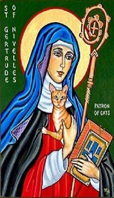 Saint Gertrude of Nivelles Patron of Cats Magnet #24